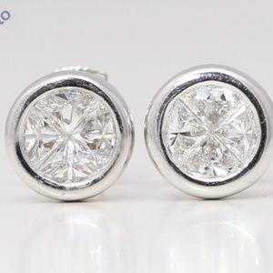 18K Diamond Circle Studs 0.78 Ct C19000275